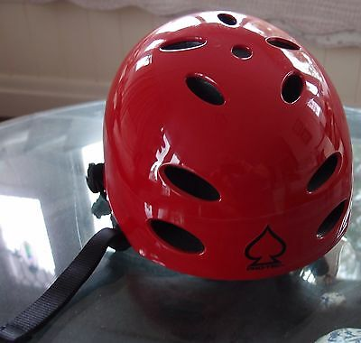 Pro-Tec Classic Gloss RED Ace Bicycle helmet VGC 55-56cm 450g - outgrown