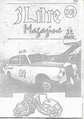 3 Litre. Banger Racing Magazine.  Issue No.32