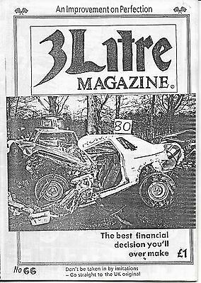 3 Litre. Banger Racing Magazine.  Issue No.66