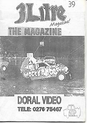 3 Litre. Banger Racing Magazine.  Issue No.39