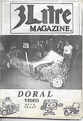 3 Litre. Banger Racing Magazine.  Issue No.43
