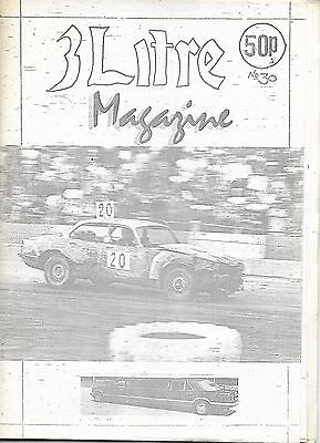 3 Litre. Banger Racing Magazine.  Issue No.30