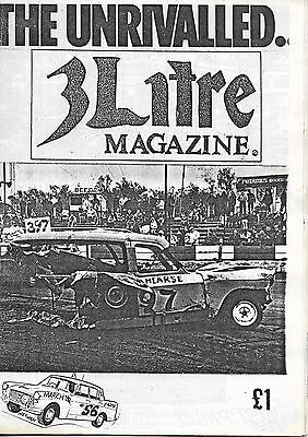 3 Litre. Banger Racing Magazine.  Issue No.56