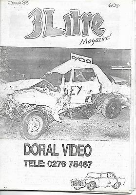 3 Litre. Banger Racing Magazine.  Issue No.38