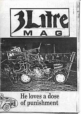 3 Litre. Banger Racing Magazine.  Issue No.63