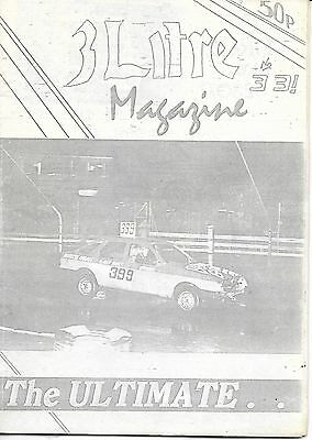 3 Litre. Banger Racing Magazine.  Issue No.33