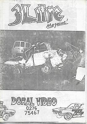 3 Litre. Banger Racing Magazine.  Issue No.41