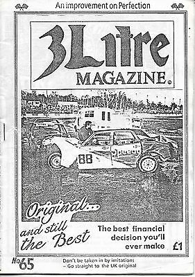 3 Litre. Banger Racing Magazine.  Issue No.65