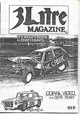 3 Litre. Banger Racing Magazine.  Issue No.50