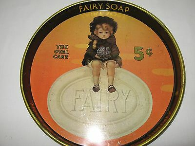 ANTIQUE VINTAGE FAIRY SOAP ADVERTISING BEER TRAY 14 inch CHEINCO HOUSEWARES TRAY
