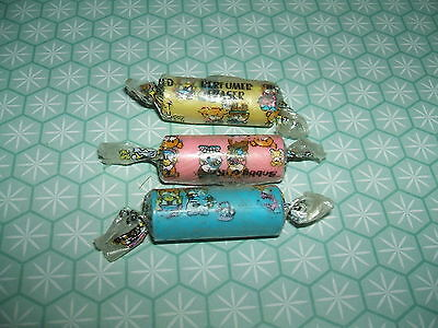 Rare Vintage 1980s Ribbon Bobby & Kate Complete Set Sealed Sweets erasers rubber