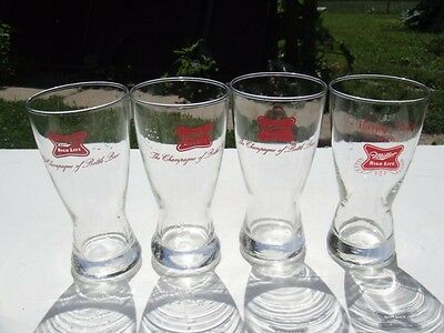 Vintage Miller Beer Memorabilia Pilsner Bar Drink Glass LOT