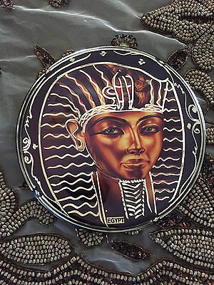 egyptian solid handmade copper/brass wall plate/plaque of ancient king tut