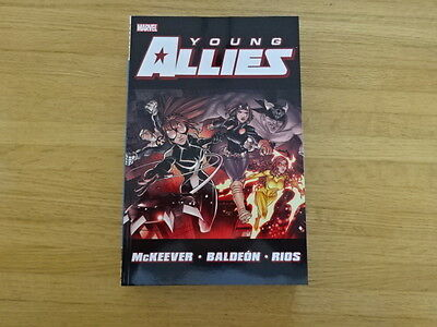Rare Copy Of Young Allies Tpb Graphic Novel! Marvel!