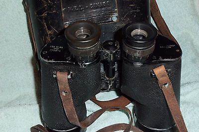 WW2 1944 REL 7x50 BINOCULARS ORIGINAL LEATHER CASE STRAPS