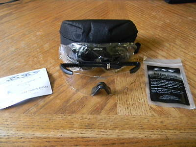 ESS ICE 2.4 Eye Shield Spectacle Kit Clear & Smoke Lens - NEW - Free Ship