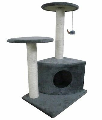S# Cat Tree 70 Grey Pet Scratcher Post Poles Scratching House Gym Condo Furnitur