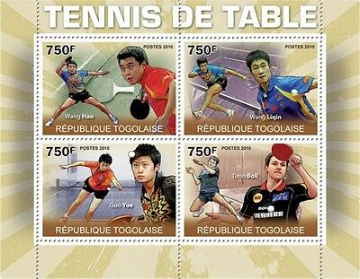 Table Tennis Masters m/s Togo 2010 MNH Mi. 3619-22 #TG10308a