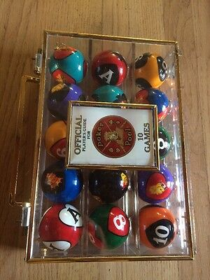 Poker Pool Balls Official Players Guid 10 Games New