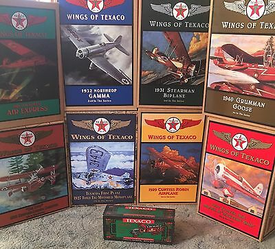 8 WINGS OF TEXACO COLLECTIBLE DIE CAST PLANE BANKS #1 Thru #8 Plus #9 Truck