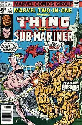 Marvel Two-In-One (1974 series) #28 in Fine condition. FREE bag/board