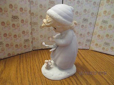 Precious Moments Figurine Winter's Song Limited Edition 1986 Enesco #12092 Dove