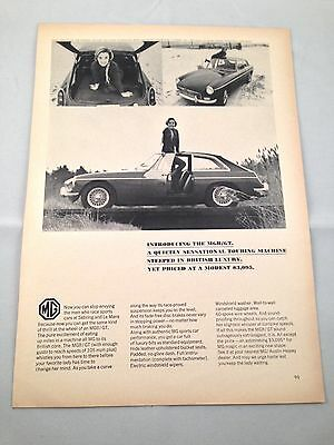 1966 MG MGB/GT 3-Photo Vintage Car Automobile Print Ad Advertising Page