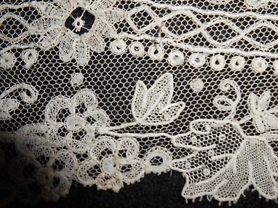 "19Th Century French Alencon Lace Wedding Collar 94"" Long"