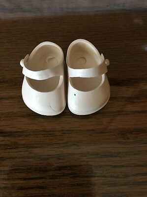 50's Vogue Ginny Cream shoes plastic Mary Janes label with heels
