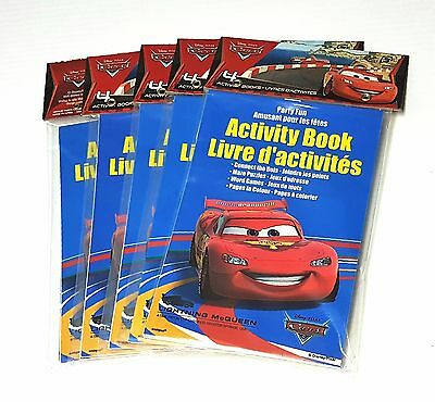 Lot of 5 Disney CARS ~ (4) Activity Books ~ Birthday Party Favors - Total of 20