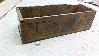 Vintage wood Lakeshire CHEESE CRATE WOODEN BOX