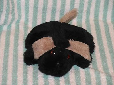 Hand Made Plush Black Puppy Dog with Brown Ears Bean Bag Lucy's Toys Anniston AL