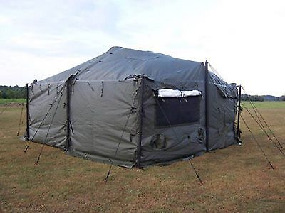 2pc.set TENT  liners for a MILITARY 18'X18' Small Modular General Purpose MGPTS