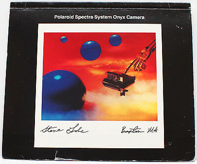 Polaroid Spectra System Onyx Instant Film Camera Manual Instructions 1980s