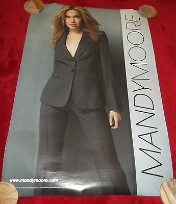 Mandy Moore Vintage Poster Teen Pop Star Music Promo 2001 Singer Actress