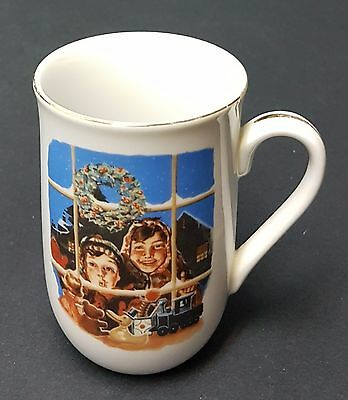 """Norman Rockwell Museum Collections Christmas Mug/Cup """"High Hopes"""" 1987"""