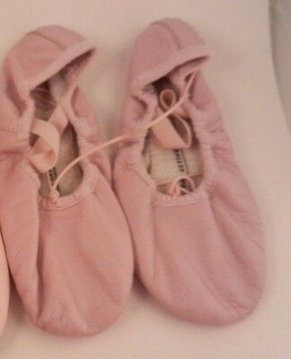 Pink Leather Ballet Slipper Shoes Girl size 13 * GUC
