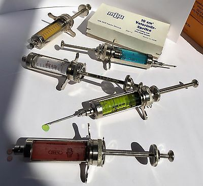 VINTAGE medical Reusable Instruments GLASS SYRINGE RECORD 10ml NEW! 1pc