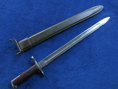 Original Ww1 Us M1905 Bayonet And Scabbard Made By Sa In1914