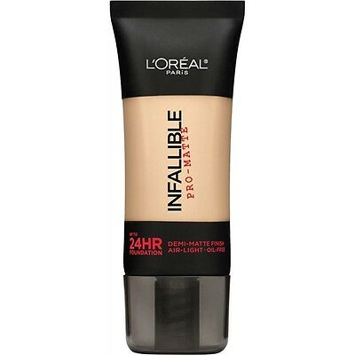 LOREAL Infallible Pro Matte Demi Matte Finish Foundation, Classic Ivory 101 NEW