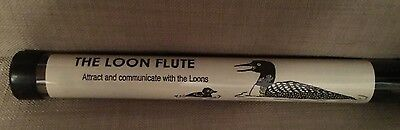 "Loon Flute w/ instructions-makes the 4 loon calls 11"" long"