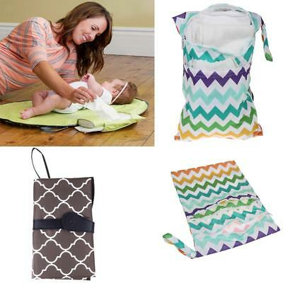 Portable Diaper Changing Station Nursery+Waterproof Nappy Pouch Bag Travel