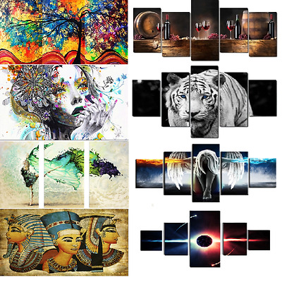 HD Canvas Print Home Decor Wall Adornment Art Painting Picture-Tiger/Beauty/Deer