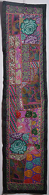 decor Vintage Throw Patchwork Wall Hanging Embroidery Tapestry Table Runner