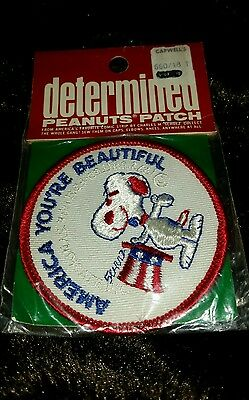 "NIP Vintage Snoopy ""America You're Beautiful"" Patch"