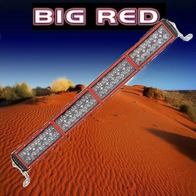 "Big Red LED Extra Power Double Row Light Bar 26"" (660mm) 16000 Lumen 48 x 5W  BR"