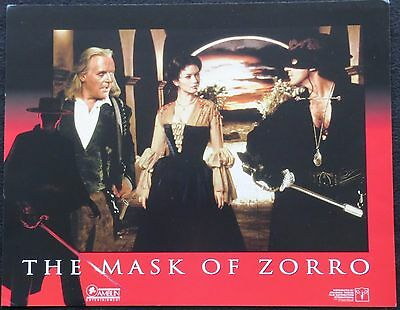 THE MASK OF ZORRO  .. LOBBY CARD ..11X14  From the 1998 Film