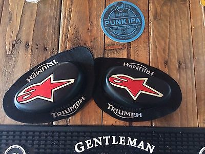 Alpinestars Triumph Knee Sliders Double Strength Protection One Size Red Black