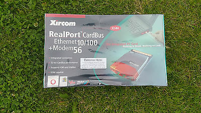 BRAND NEW SEALED BOXED Xircom RealPort CardBus Combo 10/100 Ethernet + Modem 56K