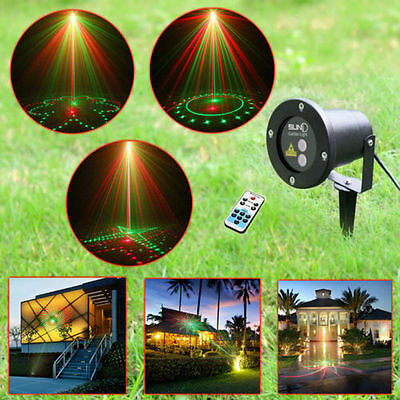 SUNY 20 Gobos Waterproof RC Garden Light Xmas LED Laser Projector Stage Lighting